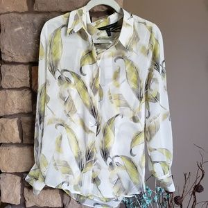 WHBM long sleeve blouse, sz 12